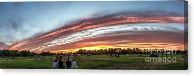 Gem County Canvas Print featuring the photograph Fourth Of July Sunset At Gem Island by Robert Bales