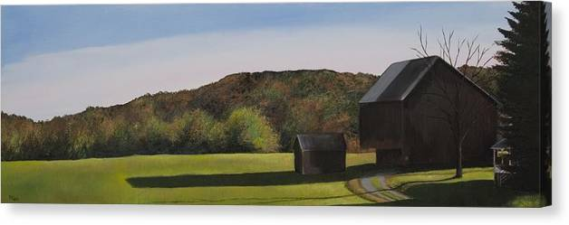 Artwork Canvas Print featuring the painting Shook Farm by Mimi Schlichter