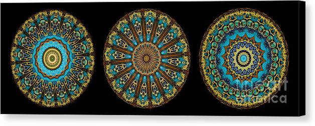 Fantasy Canvas Print featuring the photograph Kaleidoscope Steampunk Series Triptych by Amy Cicconi