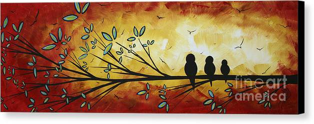 Abstract Bird Landscape Tree Blossoms Original Painting Family Of ...
