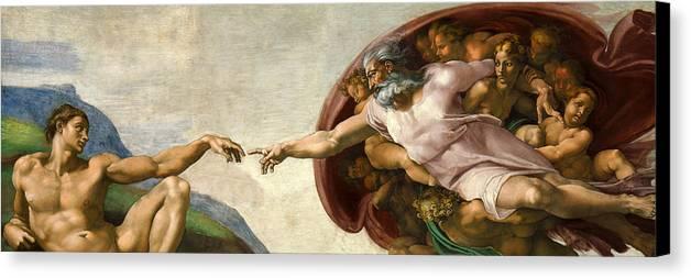 Michelangelo Canvas Print featuring the digital art Creation by Michelangelo