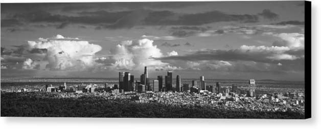 Skyline Canvas Print featuring the photograph Downtown La by Grant Taylor