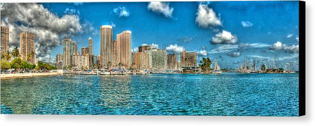 Honolulu Canvas Print featuring the photograph Honolulu Hi 2 by Richard J Cassato