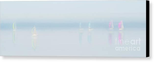 Landscape Canvas Print featuring the photograph Plain Sailing by Janet Burdon