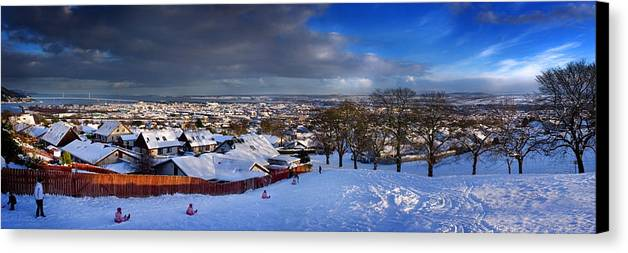 Winter In Inverness Canvas Print featuring the photograph Winter In Inverness by Joe Macrae