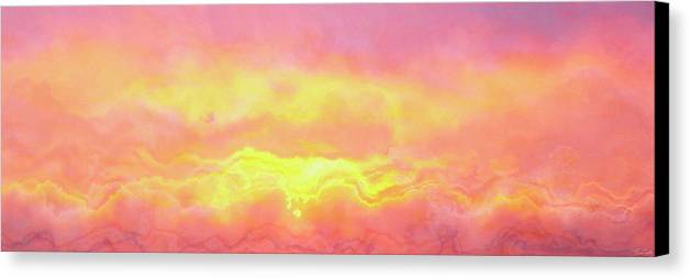 Abstract Art Canvas Print featuring the mixed media Above The Clouds - Abstract Art by Jaison Cianelli