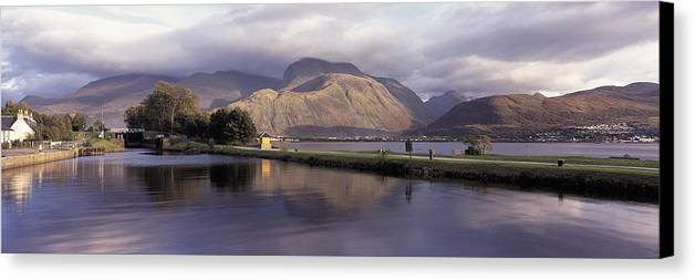 Ben Nevis Canvas Print featuring the photograph Ben Nevis Scotland by Donald Buchanan
