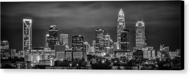 Charlotte Canvas Print featuring the photograph Charlotte Greyscale by Brian Young