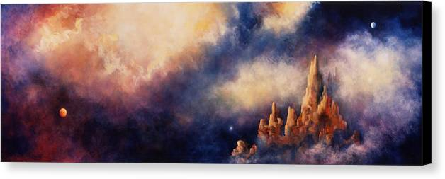 Landscape Canvas Print featuring the painting Dreaming Sedona by Marina Petro