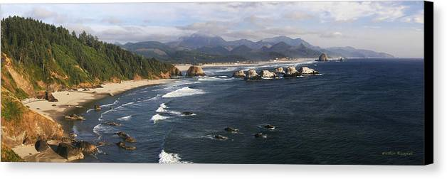 Ocean Canvas Print featuring the photograph Ecola Vista by Winston Rockwell