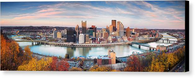 Steelers Canvas Print featuring the photograph Fall In Pittsburgh by Emmanuel Panagiotakis