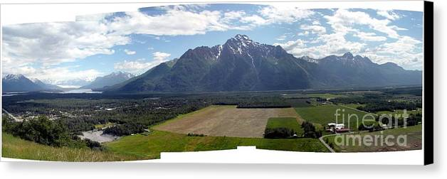Landscape Canvas Print featuring the photograph On A Butteiful Day by Ron Bissett