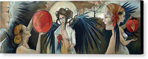 Angels Canvas Print featuring the painting Sketchbook Processional by Jacque Hudson