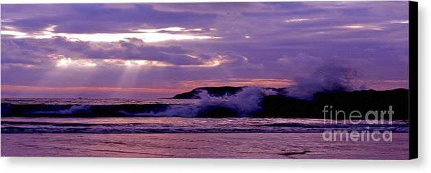Stormy Canvas Print featuring the photograph Stormy Ocean Panoramic by Sven Brogren