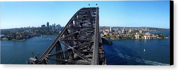 Horizontal Canvas Print featuring the photograph Sydney Harbour Bridge by Melanie Viola