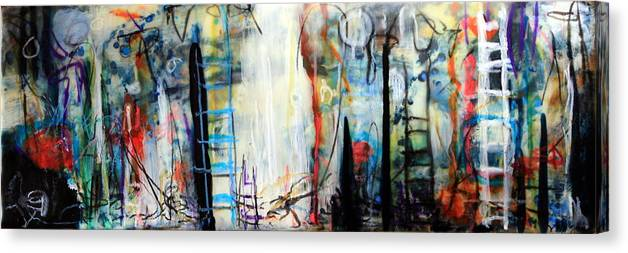 Abstract Canvas Print featuring the painting And My Little Hands Shake by Mary C Farrenkopf