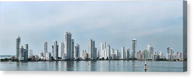 Photography Canvas Print featuring the photograph City Skyline, Castillogrande by Panoramic Images