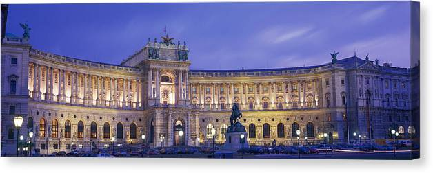 Photography Canvas Print featuring the photograph Hofburg Imperial Palace, Heldenplatz by Panoramic Images