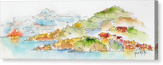 Impressionism Canvas Print featuring the painting Islands In The Sun by Pat Katz