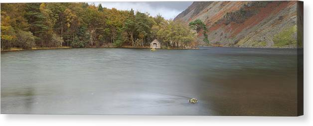 Wast Water Canvas Print featuring the photograph Wast Water Boat House by Nick Atkin