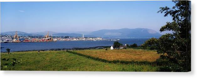 Contrast Canvas Print featuring the photograph Warrenpoint From Carlingford, Co. Down by The Irish Image Collection