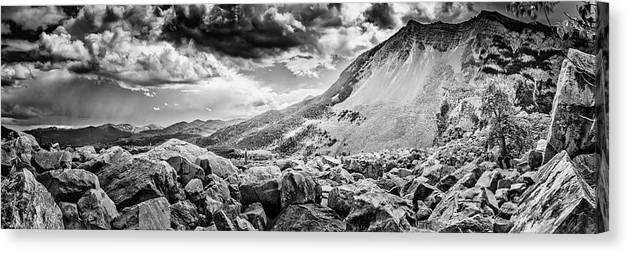 British Canvas Print featuring the photograph Frank Slide by Bryan Moore
