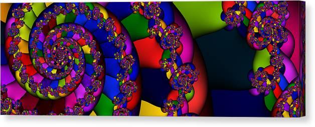 Schnecke Canvas Print featuring the digital art 3x1 Abstract 909 by Rolf Bertram
