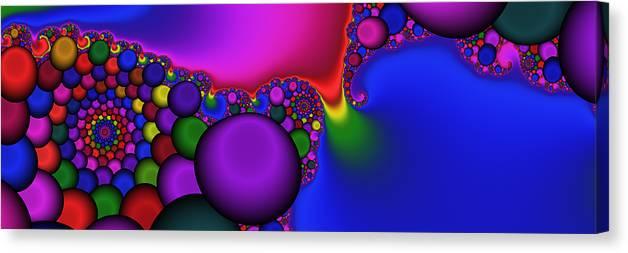 Bonbons Canvas Print featuring the digital art 3x1 Abstract 914 by Rolf Bertram