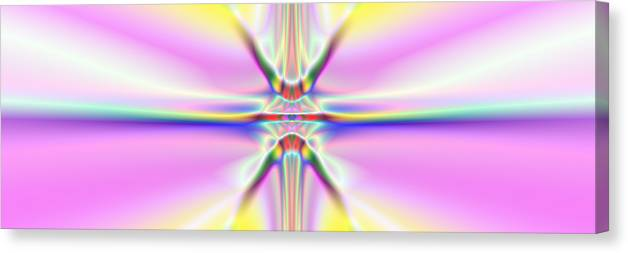 Colorful Distortions Canvas Print featuring the digital art 3x1 Abstract 917 by Rolf Bertram