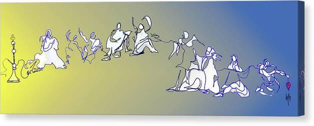 Dance Canvas Print featuring the digital art Broken Hearted by Anthe Capitan-Valais