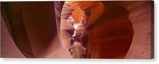 Antelope Canyon Canvas Print featuring the photograph Canyon Walls by Tom Cuccio