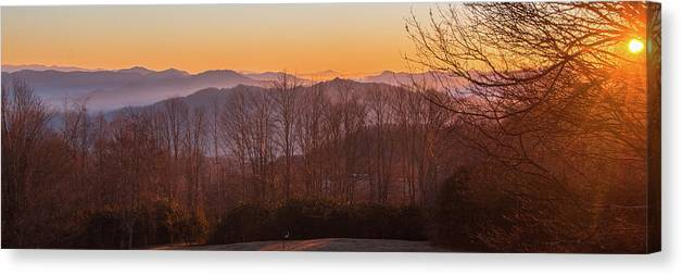 Sunrise Canvas Print featuring the photograph Deep Orange Sunrise by D K Wall