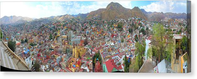Mexico Canvas Print featuring the photograph Guanajuato Mexico by Martin Nunez