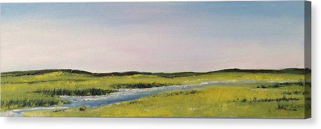 Painting Canvas Print featuring the painting Long Marsh by Mimi Schlichter