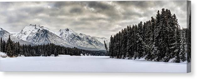 Landscape Canvas Print featuring the photograph Settled Chill by Michael Ritz