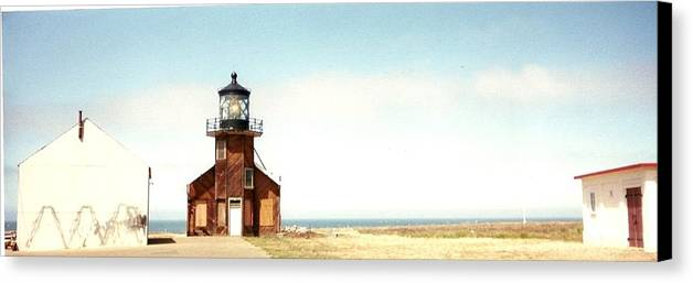 Lighthouse Canvas Print featuring the photograph Point Cabrillo Lighthouse by Edward Wolverton