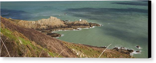 Channel Canvas Print featuring the photograph Jerbourg Point On Guernsey - 3 by Chris Smith