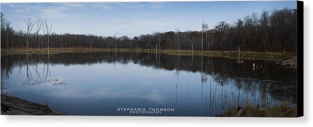 Lake Canvas Print featuring the photograph Mirrored by Stephanie Thomson