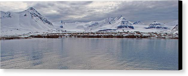 Arctic Canvas Print featuring the photograph 79 Degrees North M by Terence Davis