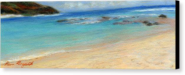 Coastal Decor Canvas Print featuring the painting Aqua Moloa'a by Kenneth Grzesik