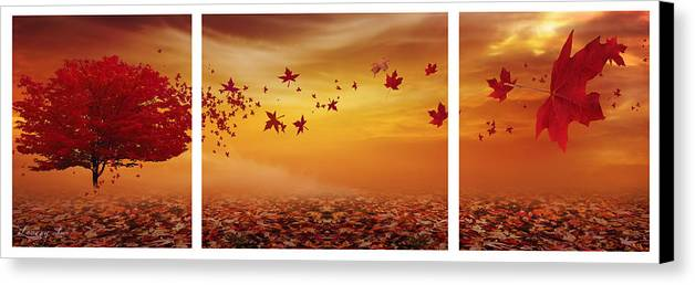 Maple Tree Canvas Print featuring the photograph Nature's Art by Lourry Legarde