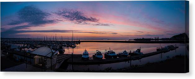 Europe Canvas Print featuring the photograph The Harbour Lights by Ollie Taylor