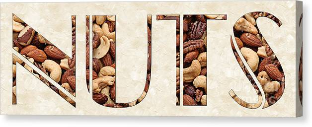 Mixed Nuts Canvas Print featuring the photograph The Word Is Nuts by Andee Design