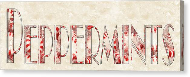 Peppermint Canvas Print featuring the photograph The Word Is Peppermints by Andee Design