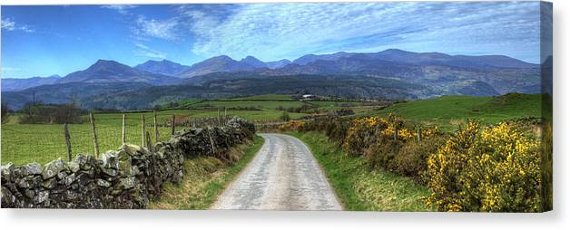 Wales Canvas Print featuring the photograph Road To Paradise by Philip Brown