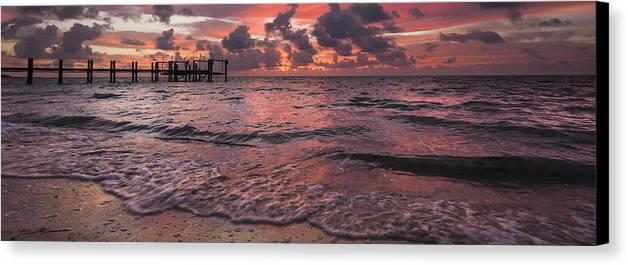 3scape Photos Canvas Print featuring the photograph Marathon Key Sunrise Panoramic by Adam Romanowicz