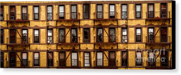 A Lot Canvas Print featuring the photograph New York City Apartment Building Study by Amy Cicconi