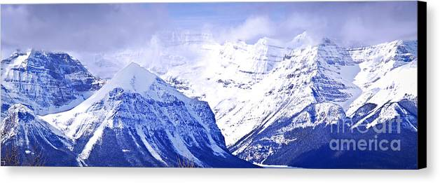 Mountain Canvas Print featuring the photograph Snowy Mountains by Elena Elisseeva