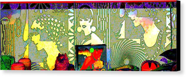 Abstract Canvas Print featuring the photograph Wallpaper Wonder by Jeffrey Hamilton