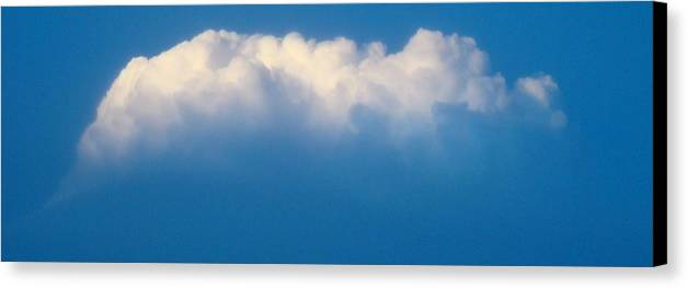 Cloud Canvas Print featuring the photograph Glowing Cloud One by Ana Villaronga